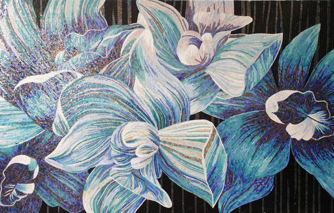 Hydrolux Mosaique fleur bleue